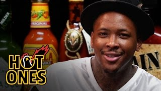 YG Keeps His Bool Eating Spicy Nuggets   Hot Ones