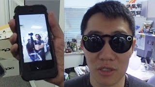 Goofy Snapchat shades  + a quick-firing DSLR + a lappie that hisses!