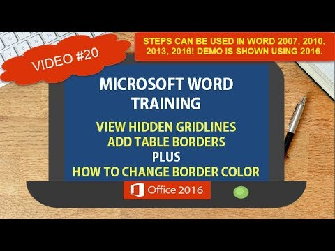 MICROSOFT WORD GRIDLINES VS. BORDERS IN A TABLE | HOW TO CHANGE TABLE BORDER COLOR | TIPS TRICKS #20