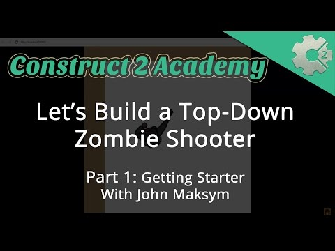 Let's Build a Top-Down Zombie Shooter Part 1: Getting Started - with John Maksym