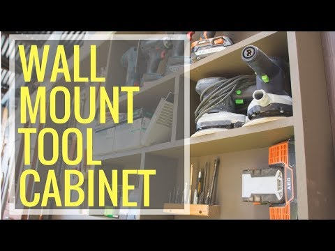 Wall Mounted Tool Cabinet