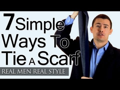 Man's Guide To Tying A Scarf - 7 Simple Ways To Tie Scarves - Man Tieing Scarfs
