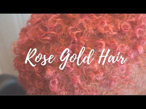 Rose Gold Hair Tutorial | Lighten + Tone Dark Hair