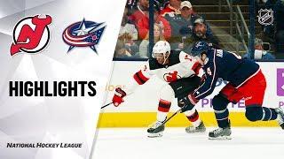 NHL Highlights | Devils @ Blue Jackets 1/18/20