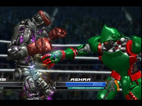 REAL STEEL THE VIDEO GAME - SUPER FIGHT (New ATOM vs ASHRA) ЖИВАЯ СТАЛЬ XBOX360/PS3