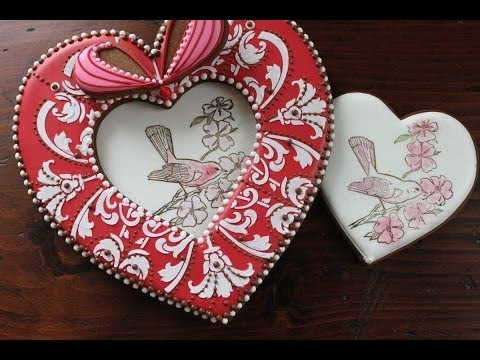 How to Rubber-Stamp and Dust a Heart Cookie (aka Insert for 3-D Heart Box Lid)