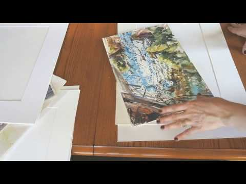 Framing a Watercolour Painting: How to Cut Mats and Assemble a Chop Frame