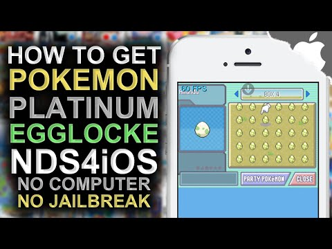 nds4ios: How To Get a Pokemon Platinum Egglocke (NO COMPUTER) (NO JAILBREAK) iPhone iPad iPod Touch