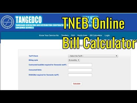 TNEB Bill Calculator || TANGEDCO || Tamil
