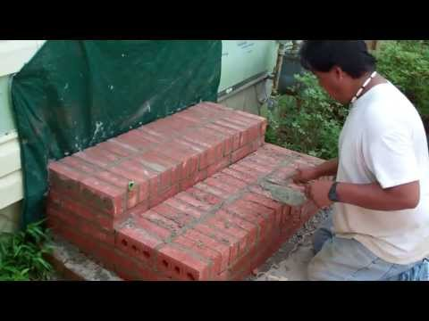Constructing Brick Steps and Installing a New Door