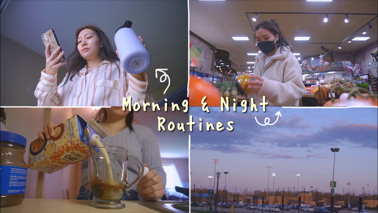 ✧ *:・゚my morning & night routines *:・゚✧ (on a good day)