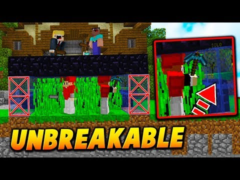 UNBREAKABLE GLITCH BLOCK TRAP! - Minecraft BEDWARS TROLLING (NO WAY OUT!)