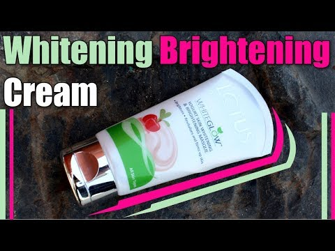SKIN WHITENING BRIGHTENING CREAM With Active Ingredients - Lotus White Glow True Review / Hindi