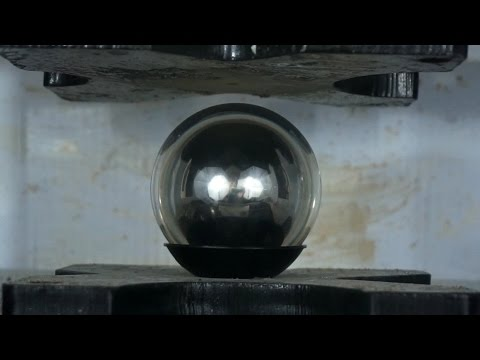 Fushigi Ball Explodes In Hydraulic Press