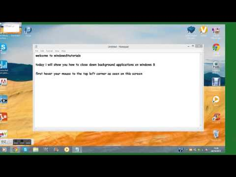 How To Close Down Background Applications On Windows 8