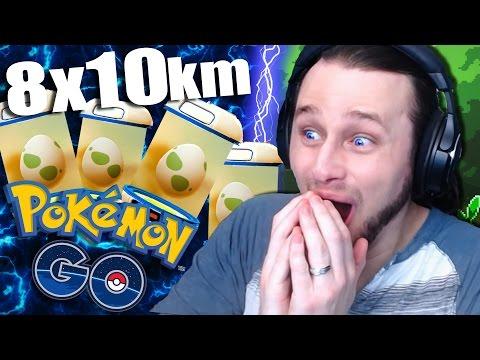 POKEMON GO - 8 x 10km Eggs!! | +Charizard!! [9]