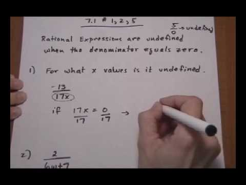for what values of x is rational expression undefined