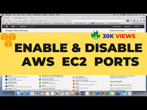 Enable Disable AWS EC2 Ports | AWS Security Groups