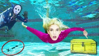 Underwater Hidden Code TRAP after Escaping GAME MASTER Clue Room w/ Chad Wild Clay & Stephen Sharer