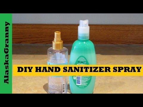 DIY Hand Sanitizer Spray