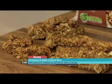 Cinnamon Granola and Apple Bars (JUNGLE OATS)