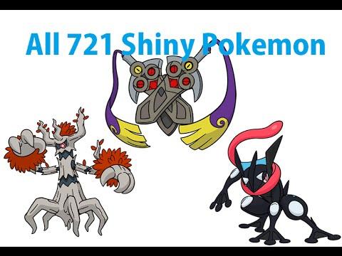 All 721 Shiny Pokemon ( All 718 + Shiny Pokemon )