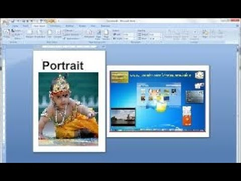 How to use Portrait and Landscape in same word document 2018 step by step Ms office tutorial