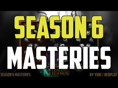 All Pre-Season 6 Masteries Guide - League of Legends (Top,Jungle,Mid,Adc,Support)