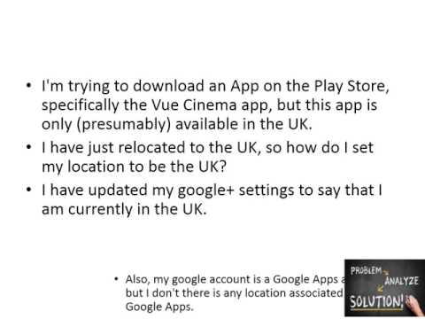 How to change my device location on the Play Store