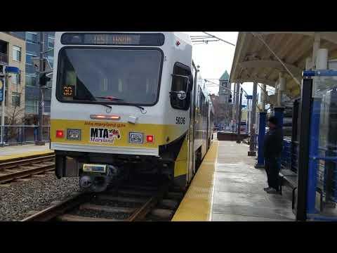 MTA MARYLAND:Light Rail LRV Refurbished Car #5036@Mount Royal
