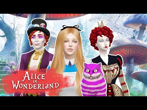 ALICE IN WONDERLAND Sims 4 || Create a Sim || Simsbiosis