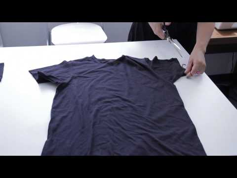 How to Cut a Slouchy T-Shirt : Fashion Project