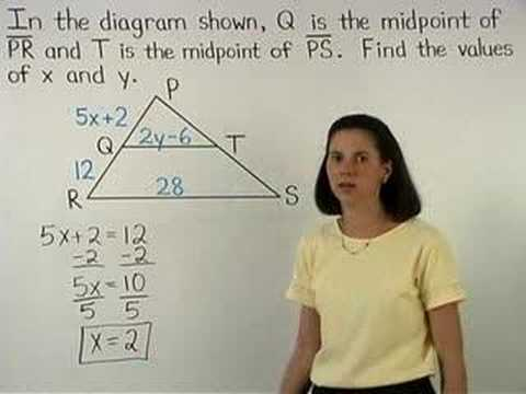 Midsegment of a Triangle - MathHelp.com - Geometry Help