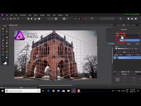 Affinity Photo Perspective Tool Effect || Affinity Inpainting Brush tool