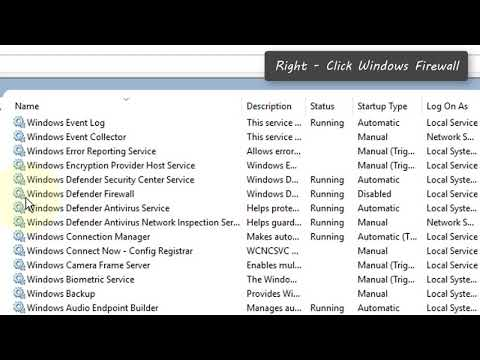 How To Fix Windows Firewall Error 0x80070422 In Windows 10