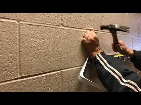 How to Drill / Anchor shelf into masonry or cinder block wall