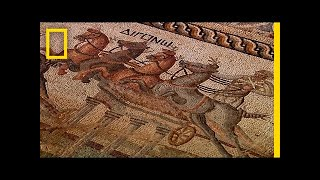 Rare 2,000-Year-Old Chariot Racing Mosaic Unearthed | National Geographic