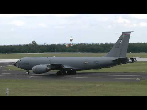US Air Force KC-135 Stratotanker takeoff