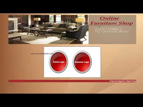 Online Furniture Shop Project PHP