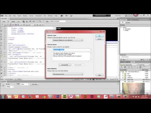 How to Create Your First Web Page in Dreamweaver CS6 CC hd720