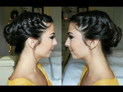 Celebrity French Braid Bun
