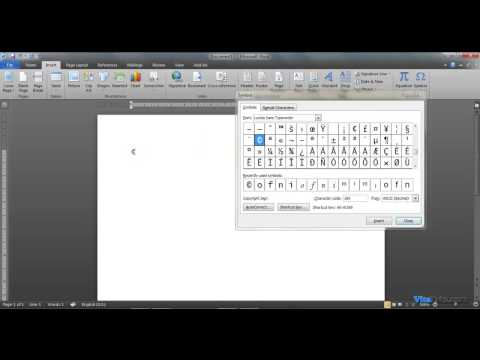 How to Insert ASCII in Word 2007 / 2010