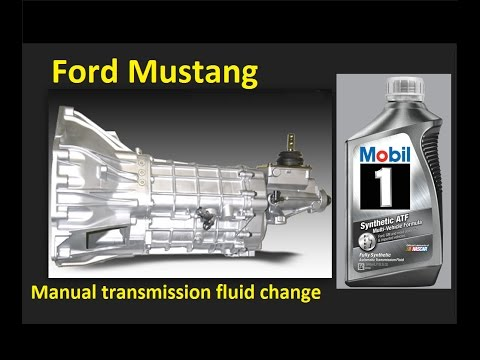 Manual Transmission Fluid change: Ford Mustang 1994-2004 and earlier fox.  Liquido de transmision