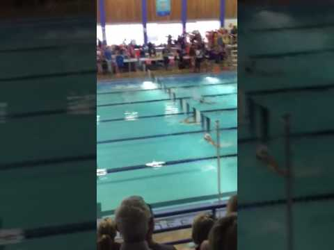 Andrew 50 metre fly calgary swim meet