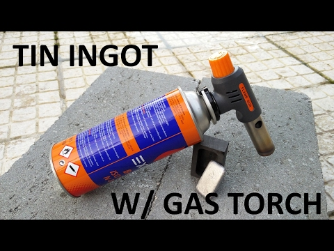 Casting A Tin Ingot From Lead-Free Solder - Using A Torch!