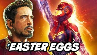Captain Marvel Avengers Endgame TOP 20 Easter Eggs Breakdown