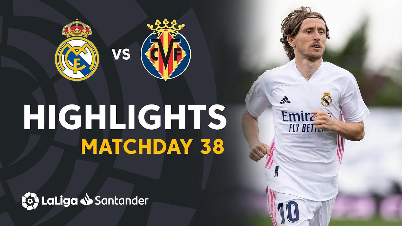 Resumen de Real Madrid vs Villarreal CF (2-1)