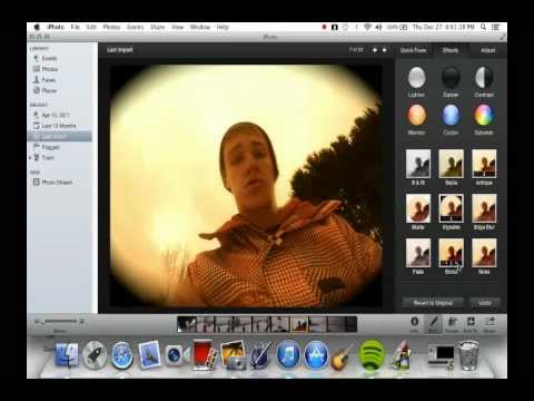 Editing photos in iphoto w/ Mac