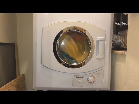 Panda Compact Clothes Dryer Review - Apartment Dryer Demo 110V PAN40SF