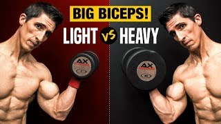 Heavy Weights VS. Light Weights for Big Biceps (WHICH IS BEST?)